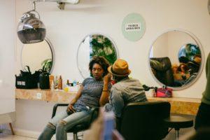 Ambiance du salon de coiffure