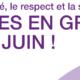 Juin se conjuguera au féminin bouclé… à Lausanne et à GENEVE!