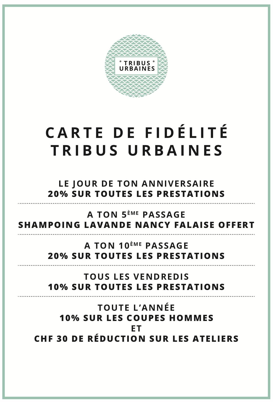 Carte fidélité au salon Tribus Urbaines